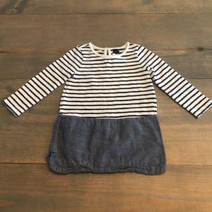 BabyGAP striped & denim dress. Size 2T.